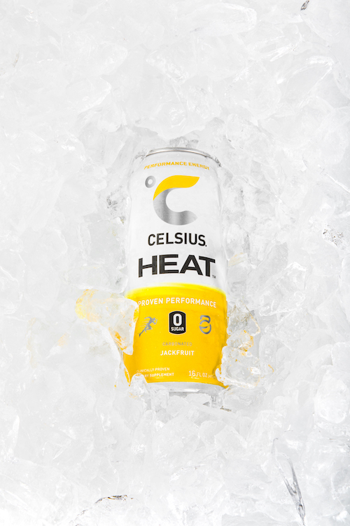 image of jackfruit celsius heat can submerged in ice