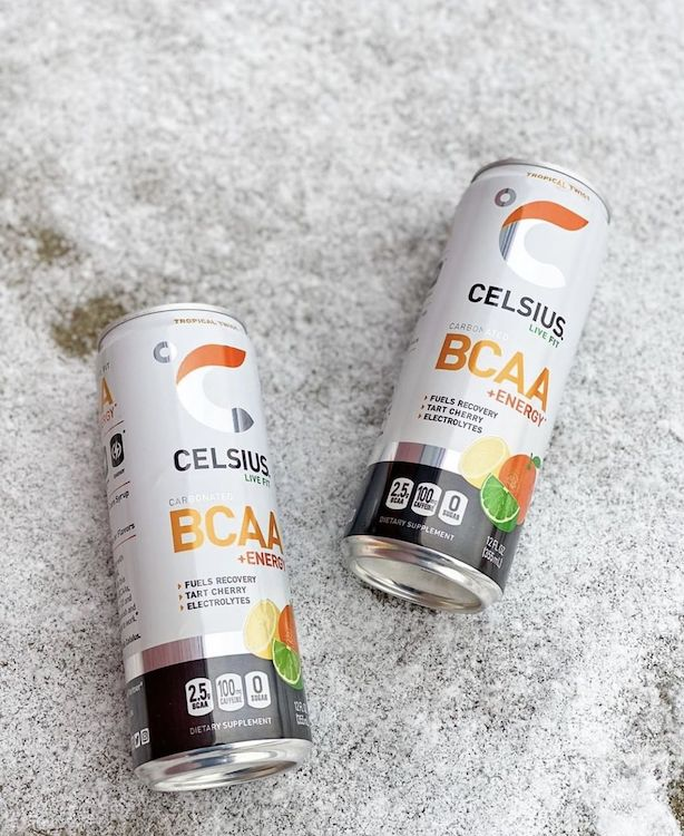 image of two celsius bcaa cans