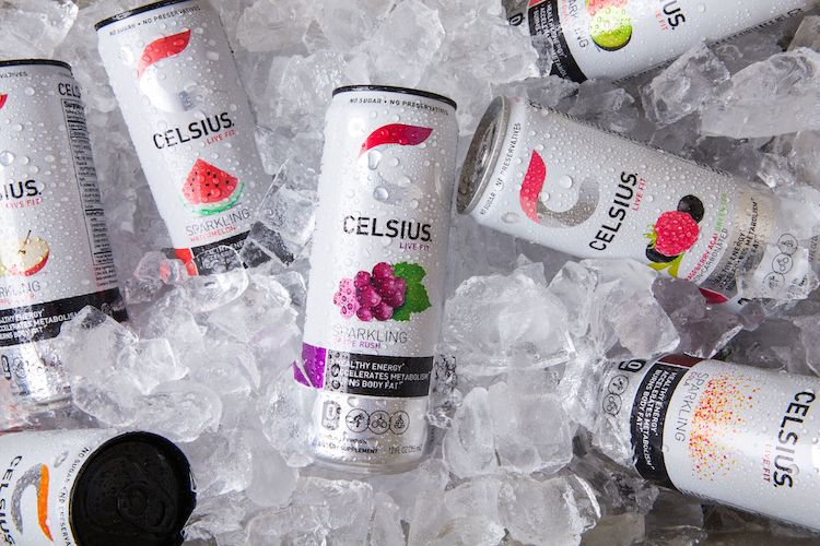 image of celsius originals in ice