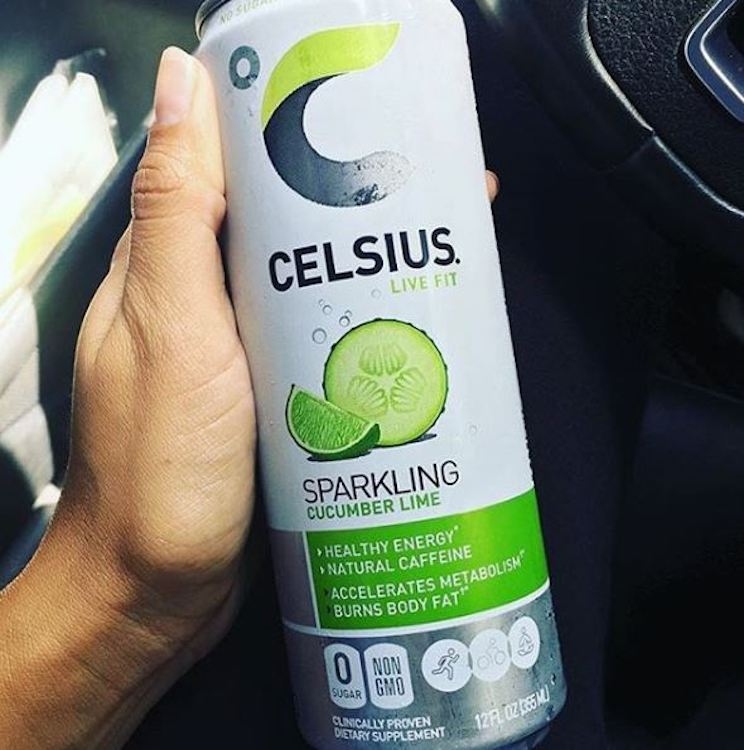 image of a sparkling cucumber lime celsius can