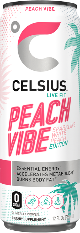 Sparkling Peach Vibe Can Label