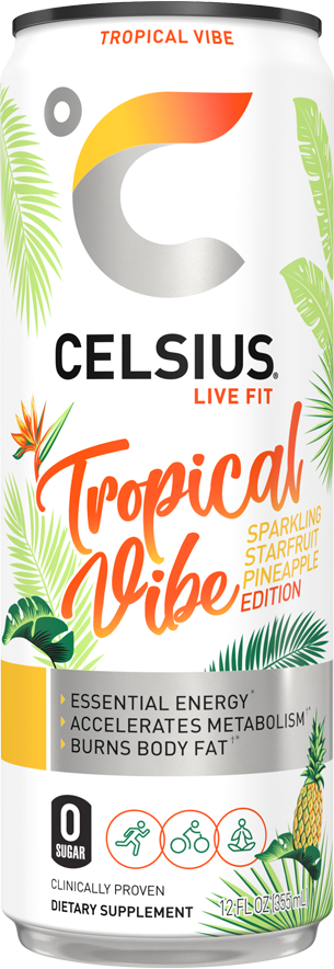 Sparkling Tropical Vibe Can Label
